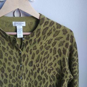 JONES NEW YORK // 90s Leopard Cardi